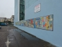 Our pupils' wall mural in Grattan St. Car Park